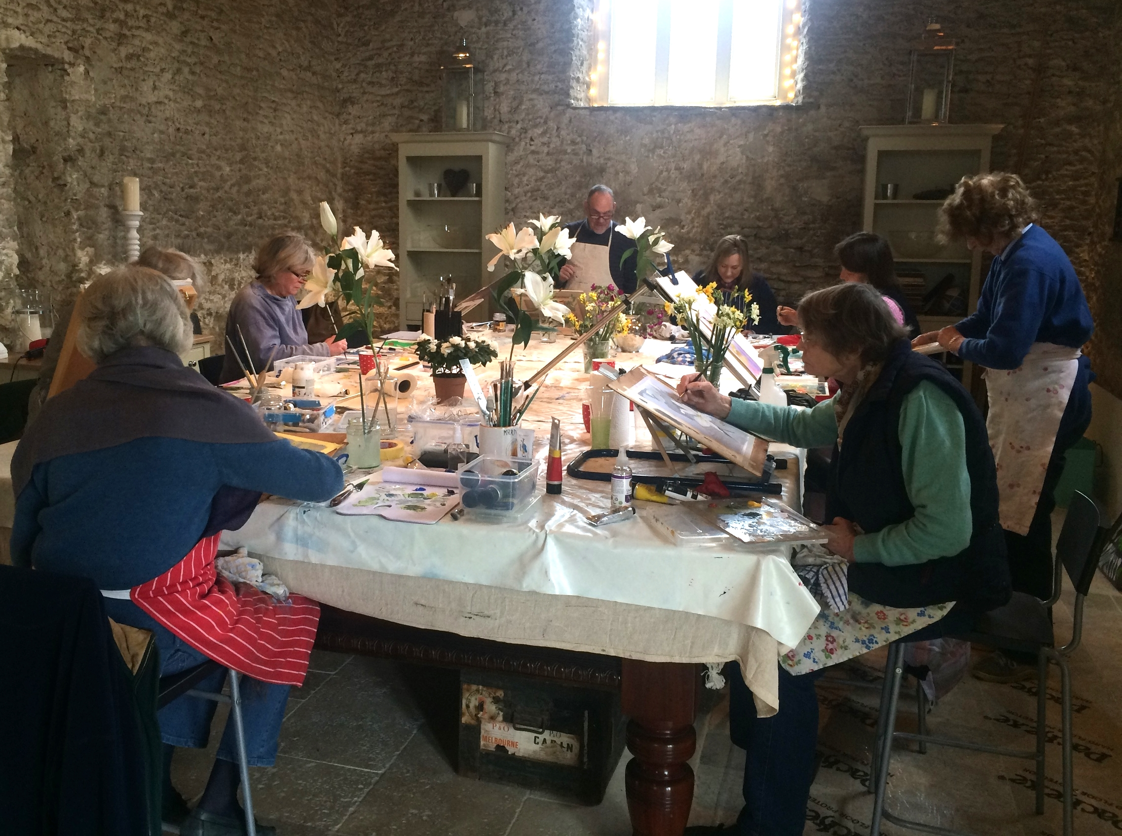 Intermediate Acrylic Workshop in Stourton Caundle