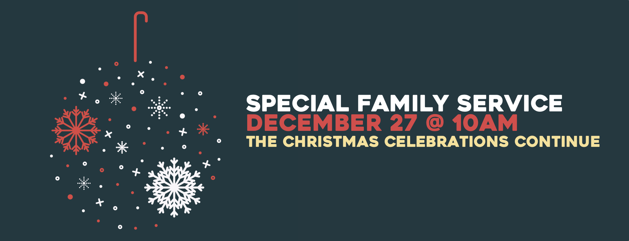 We will wrap up our christmas celebrations with this very special family service! join us at 10am