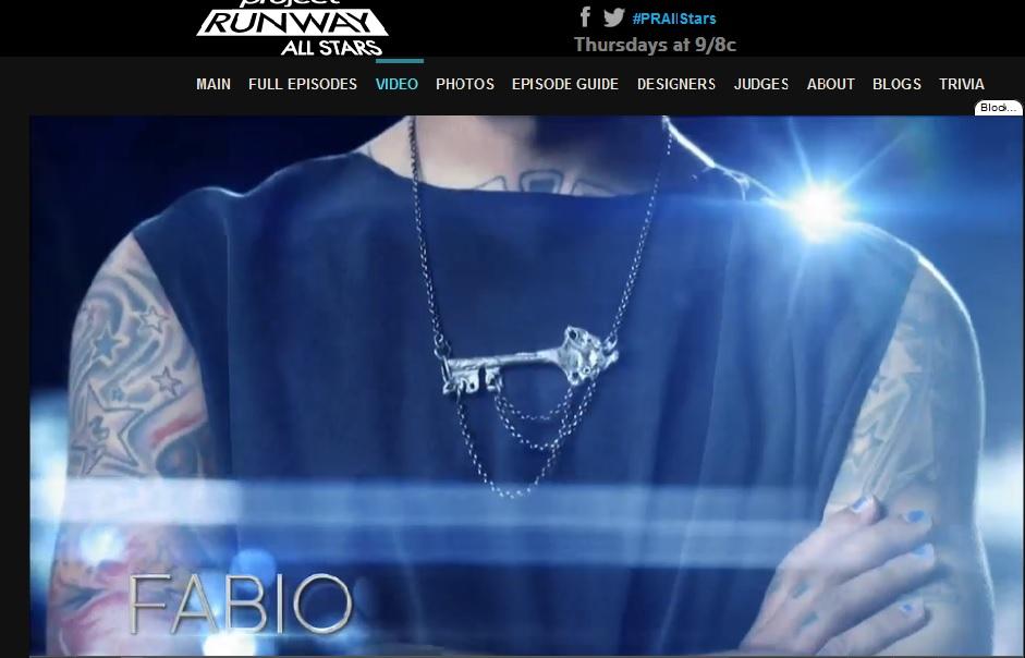 Fabio Costa wearing KVK key necklace