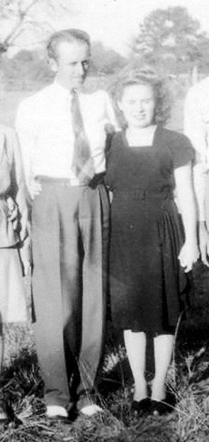 Mom & Pop at the farm, back in the 40's