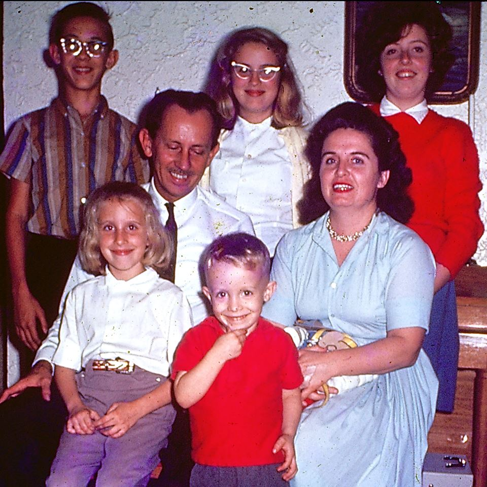 that's me on his lap . . . probably about 1963