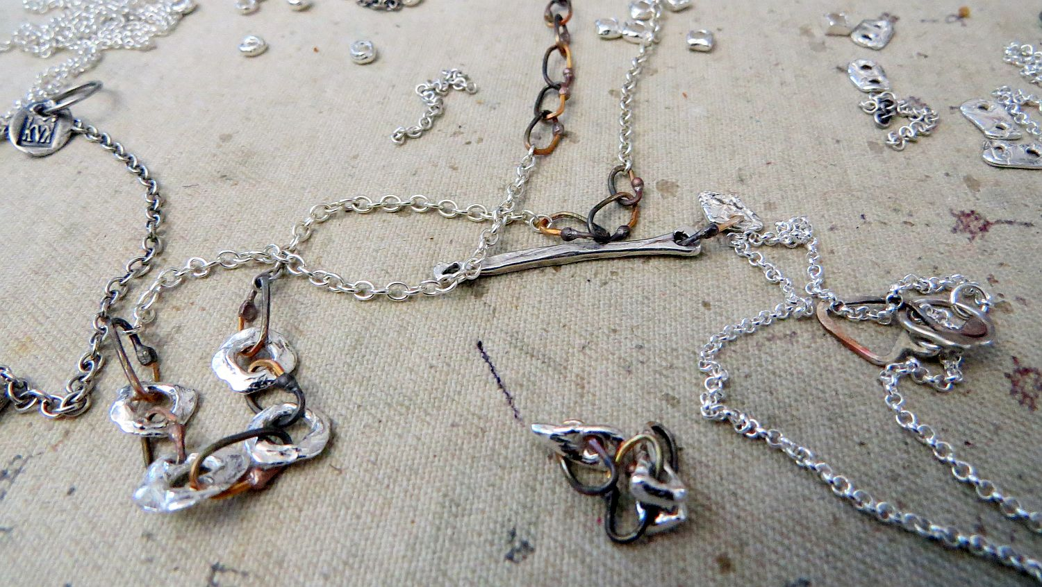 working on some bigger pieces and chain link combinations