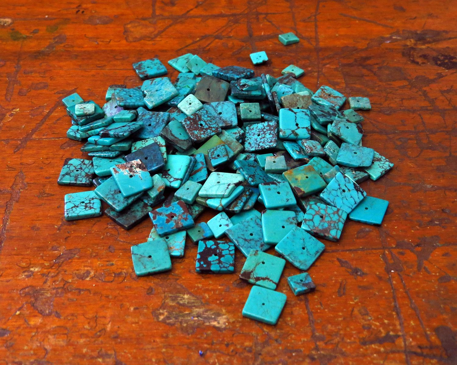 I've had these Chinese turquoise cubes for ages ... really would like to do something with them