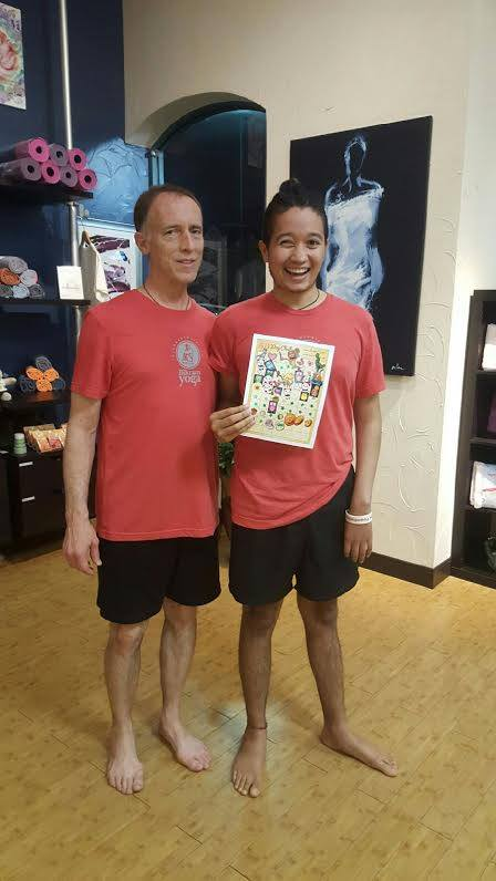 Richie and his Dad completing their 60 day Bikram challenge ... amazing!