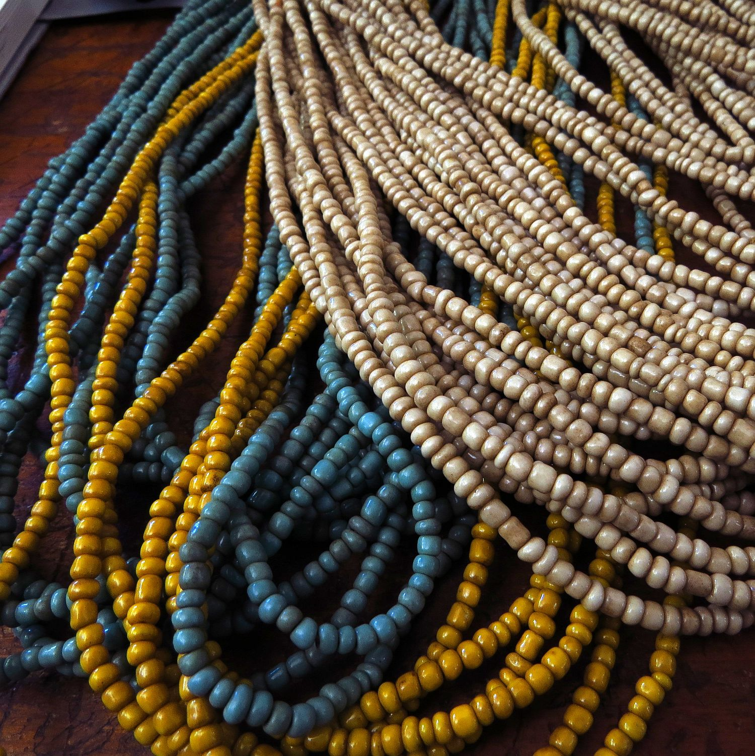 not sure why, but I'm fairly obsessed with these African goomba beads ...