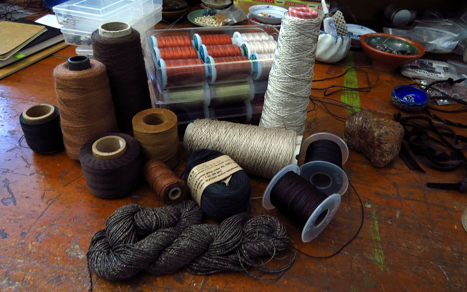 a selected portion of my vast collection of fiber experiments ... failures as well as successes