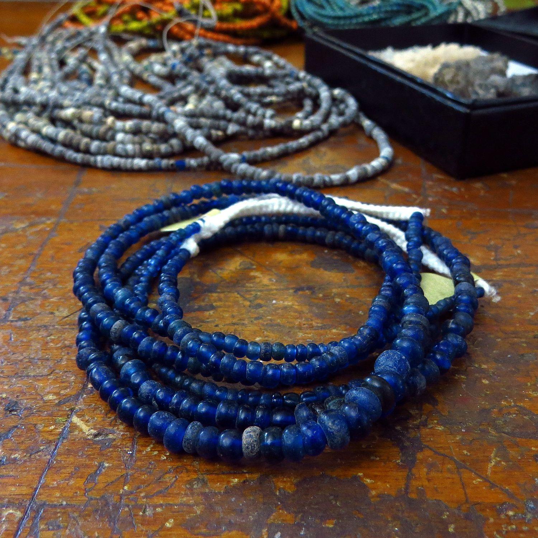 cobalt roman glass beads kathy van kleeck.JPG