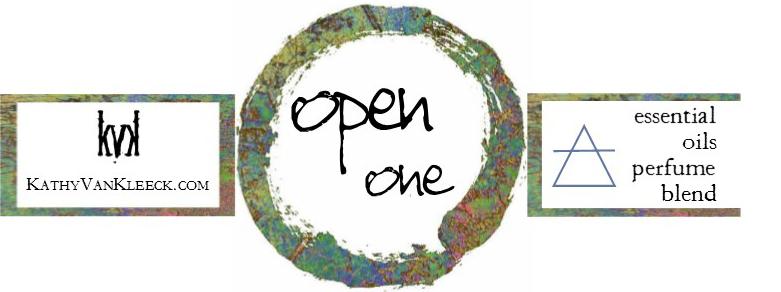 """Open, one"" 4ml perfume label"