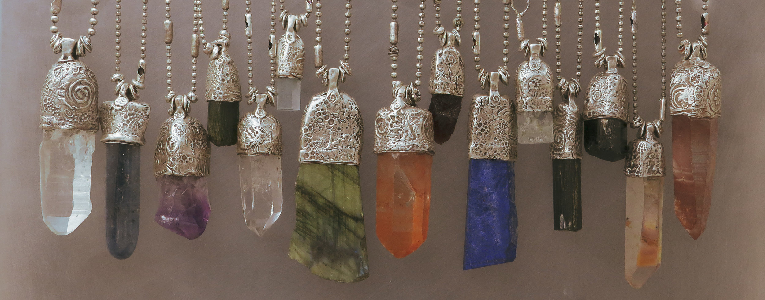 capped crystal talismans collection kathy van kleeck
