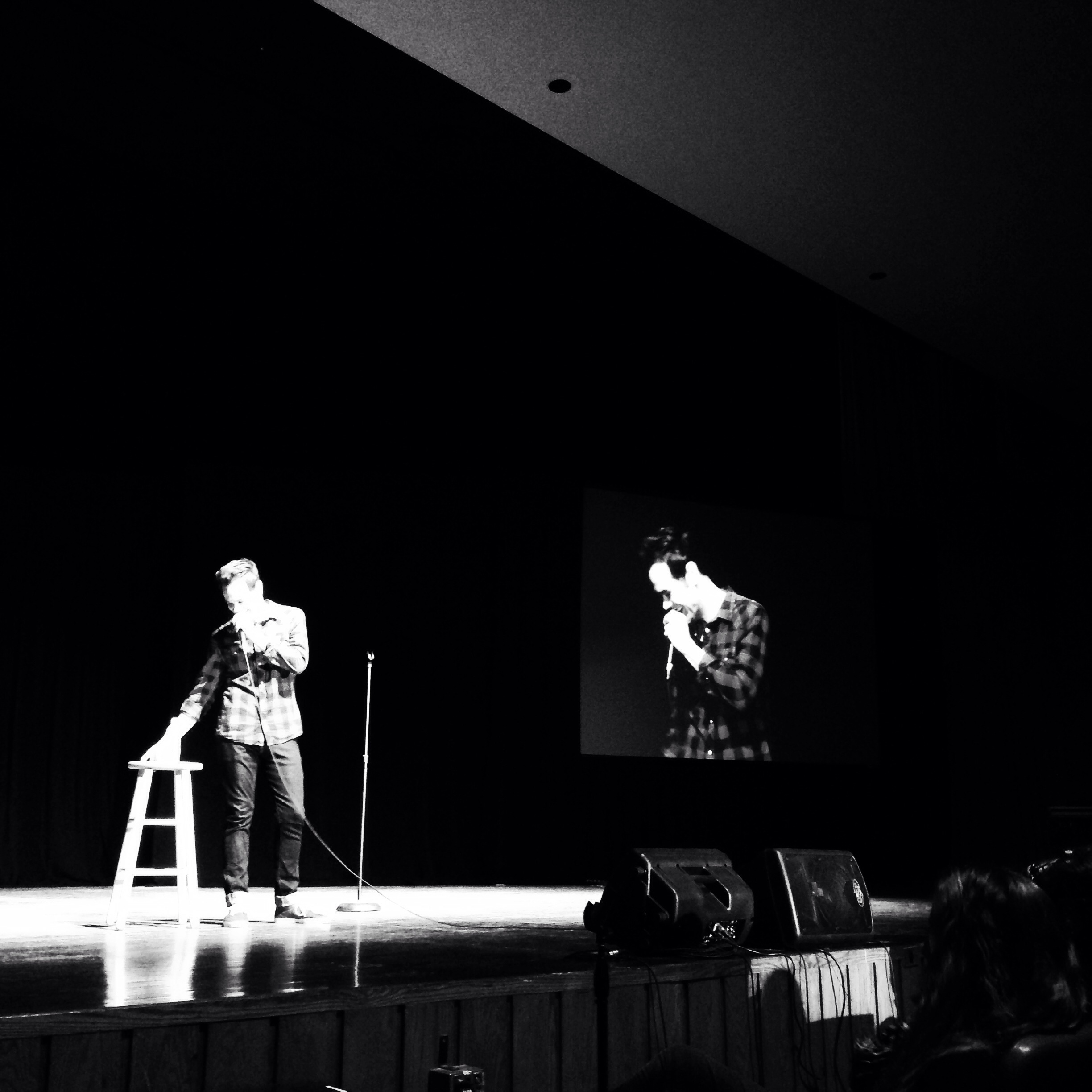 Michael Malone headlining the 12th Annual Comedy Jam at Findlay University.