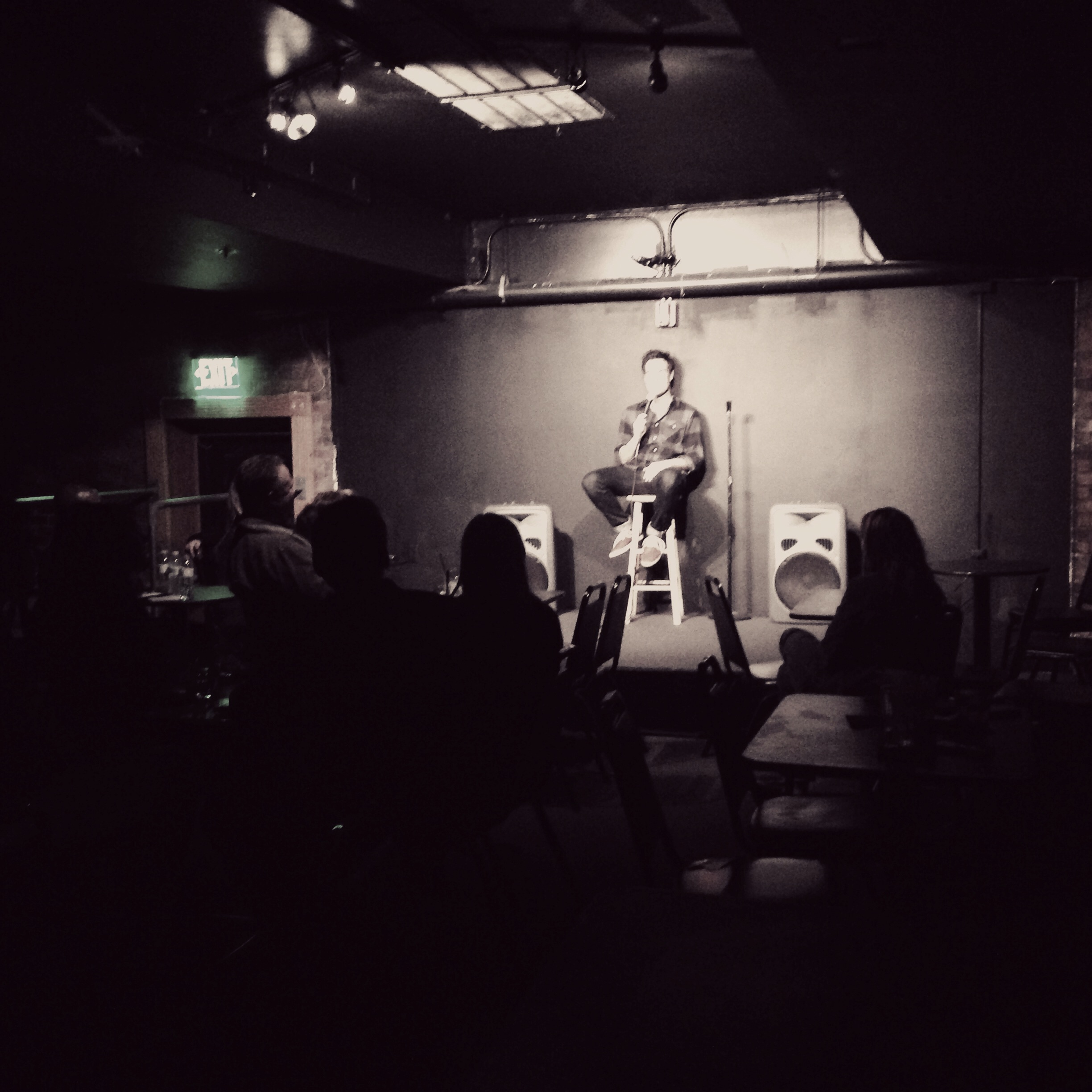 Michael Malone performing at The Comedy Spot in Scottsdale.