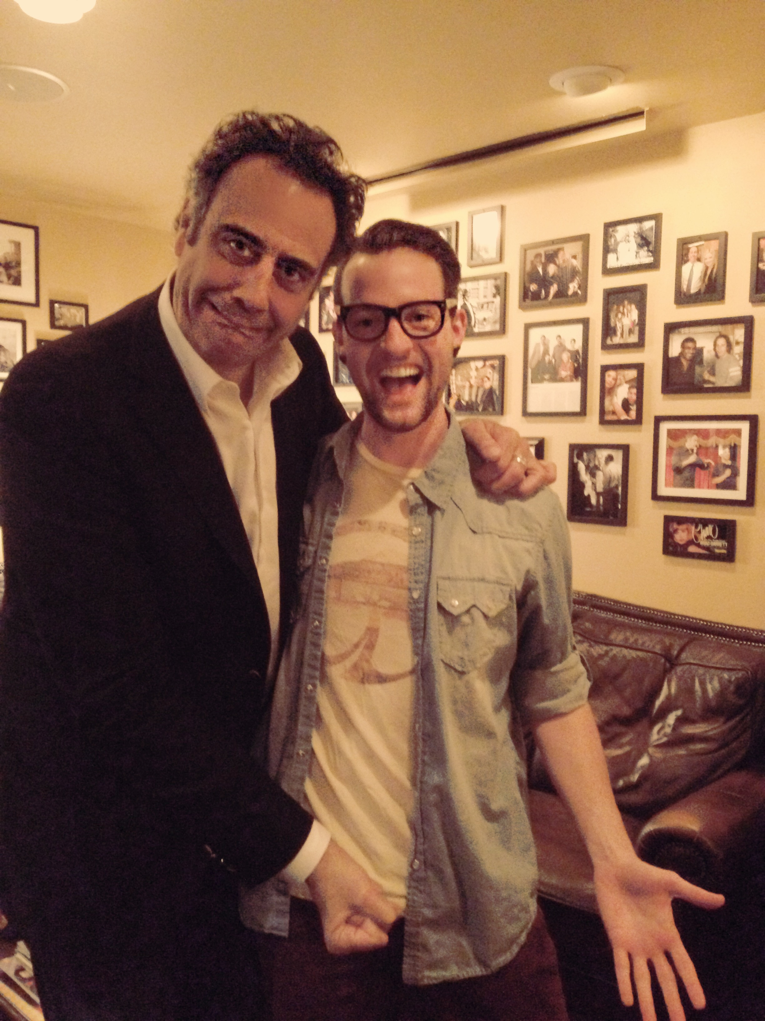 Brad Garrett and Ryan M Brewer backstage.