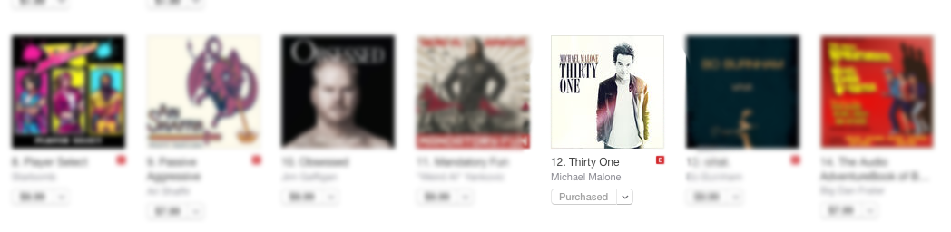 Thirty One is No. 12 on iTunes. Help me break the Top Ten, and you could win a $25 iTunes Gift Card