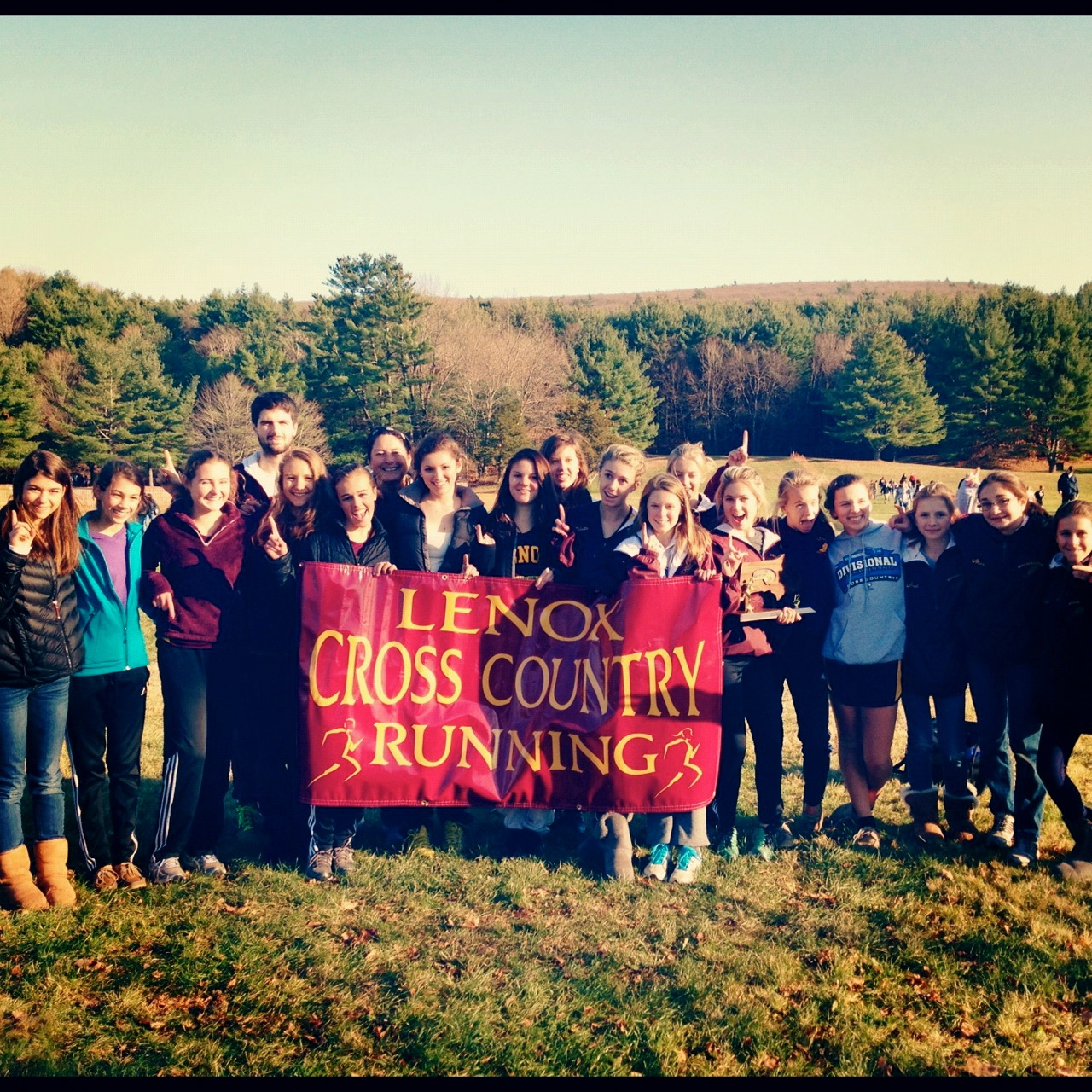Lots of Good Girls on the Lenox High School Cross Country Team, Nor th Division Champions!