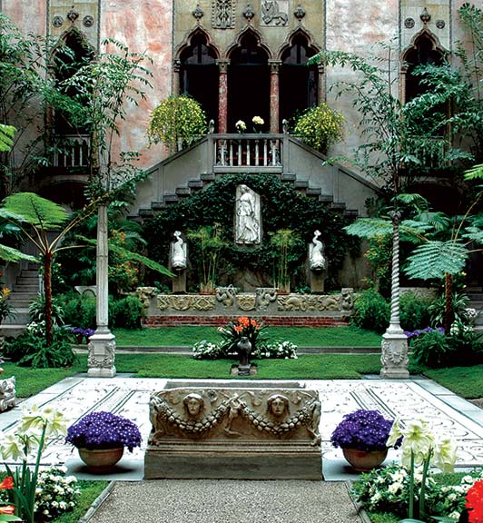 The courtyard at The Isabella Stewart Gardner Museum.