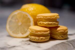 Lemon macarons made by Alice