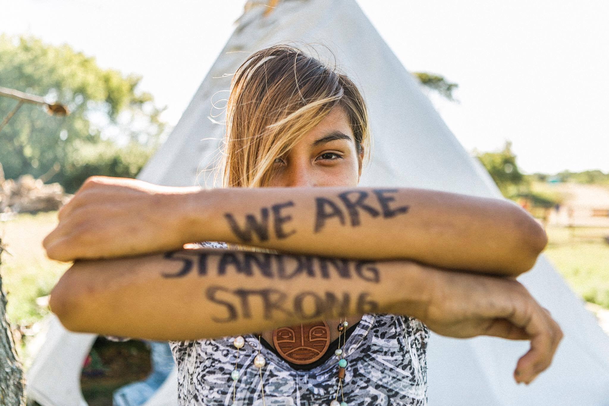 A member of the tribe is Standing Strong at  Sacred Stone Camp  photo by  Josué Rivas Fotographer   #StandWithStandingRock   #NoDAPL