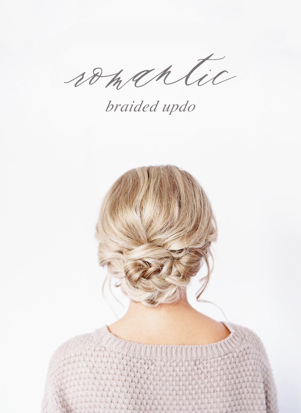 romantic braided updo wedding bridal hairstyle tutorial DIY braid elegant hair // www.hannahforsberg.com-atlanta-wedding-photographer-hair-makeup-tutorial-diy-romantic-updo.jpg