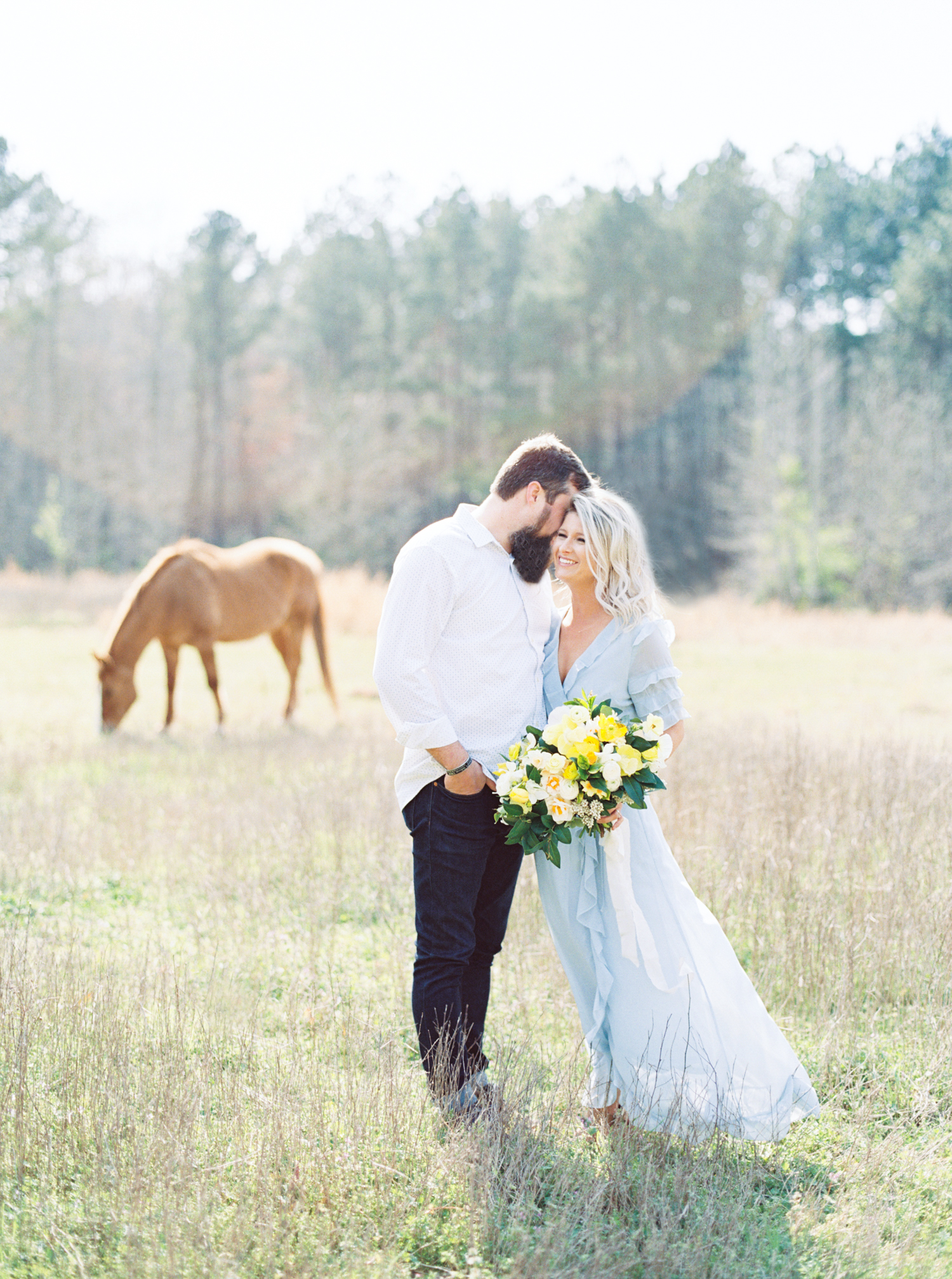 hannah forsberg atlanta wedding photographer whitney spence anniversary session with miniature donkeys and horse-1.jpg