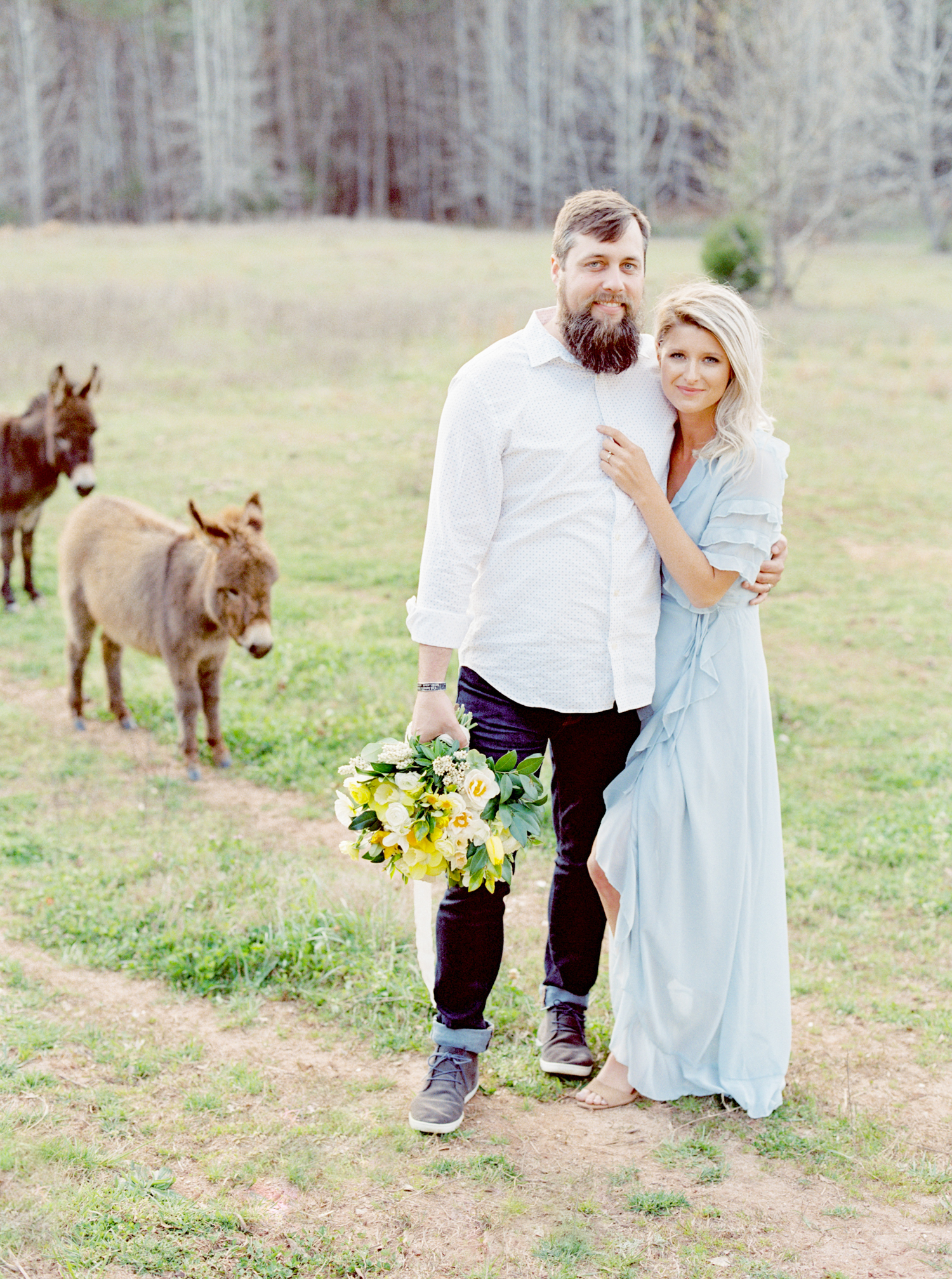 hannah forsberg atlanta wedding photographer whitney spence anniversary session with miniature donkeys and horse-29.jpg