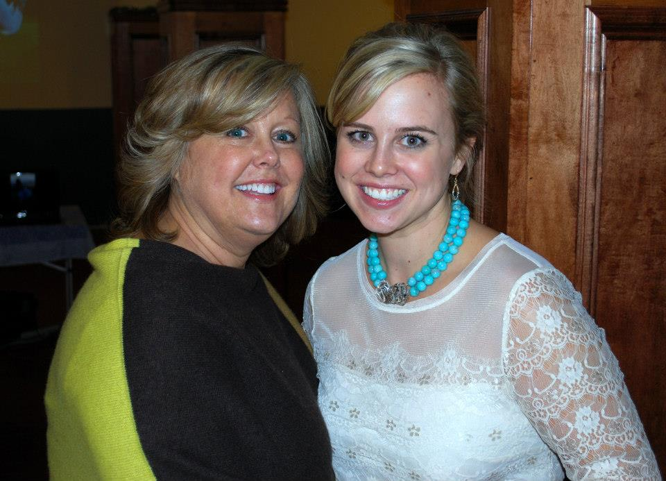 Courtney and Cathy at Courtney's rehearsal dinner.