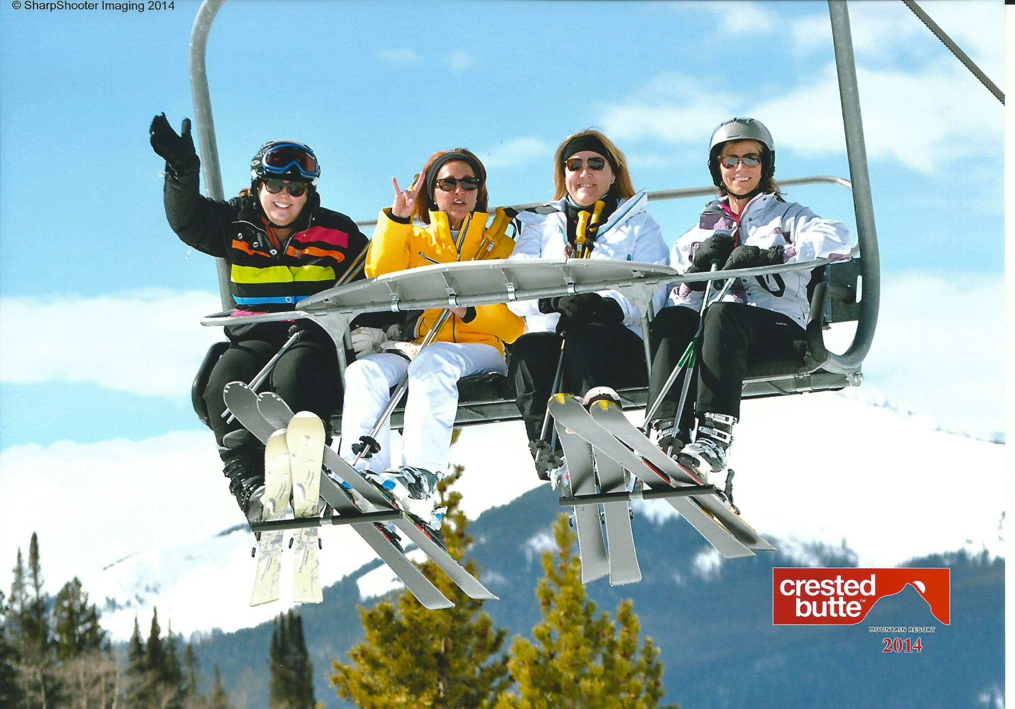 Cathy, far left, pictured with three dear friends in Crested Butte, CO.