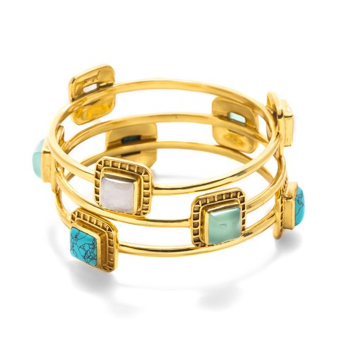 Escala 3-stone bangle, $145 each