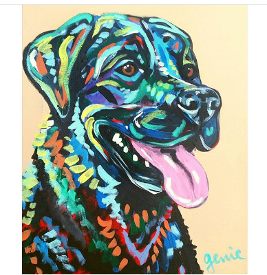 Black lab that will be featured at the Trunk Show!