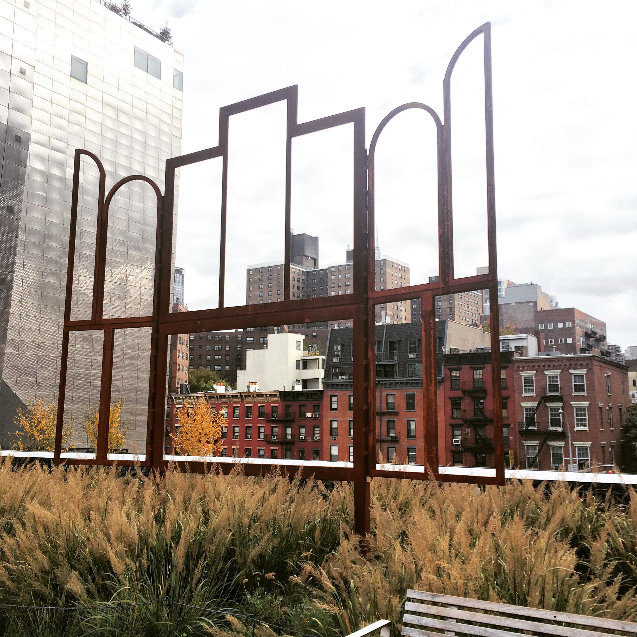 The Chelsea High Line was full of fall colors.