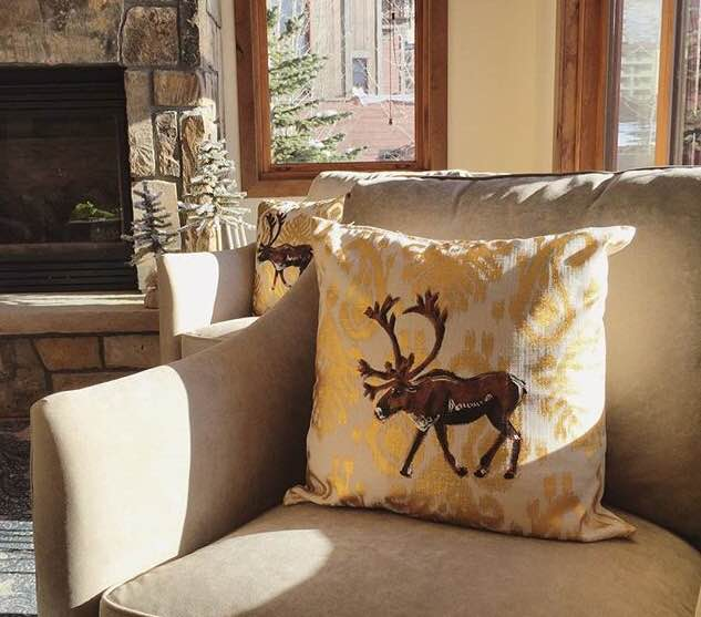 hand-painted pillows, Paintings by Genie