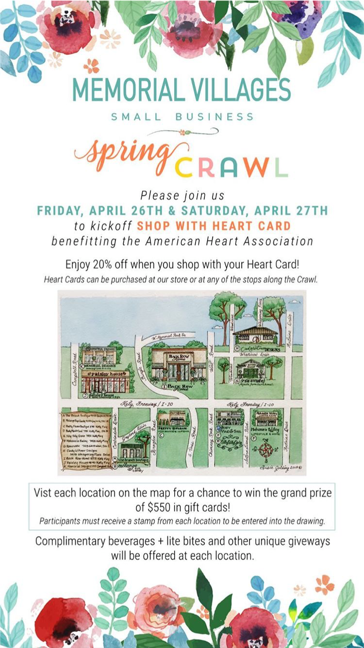 Shop Small Crawl - Memorial Villages April 2019! — renovate on map games, map jewelry, map books, map services,