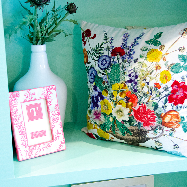 Embroidered Pillow: $48