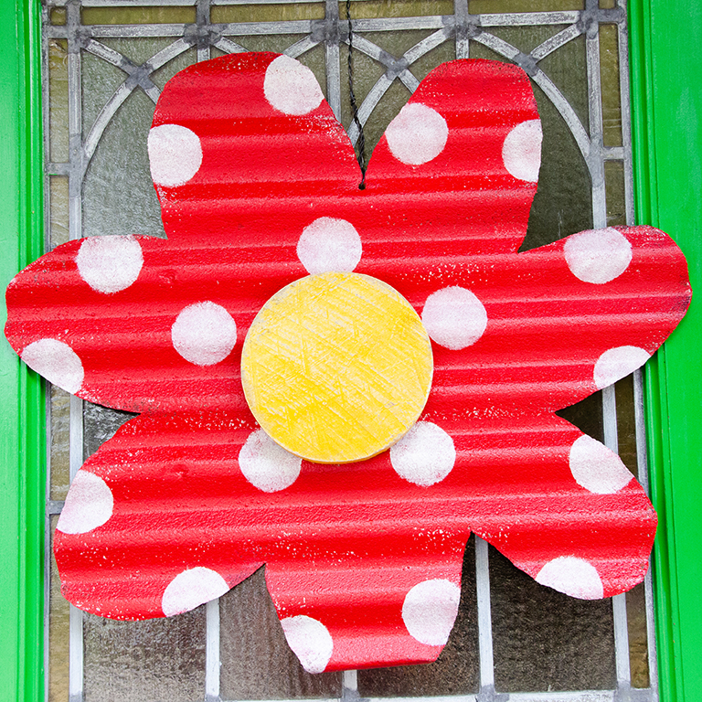 Red Flower Door Hanger: $64