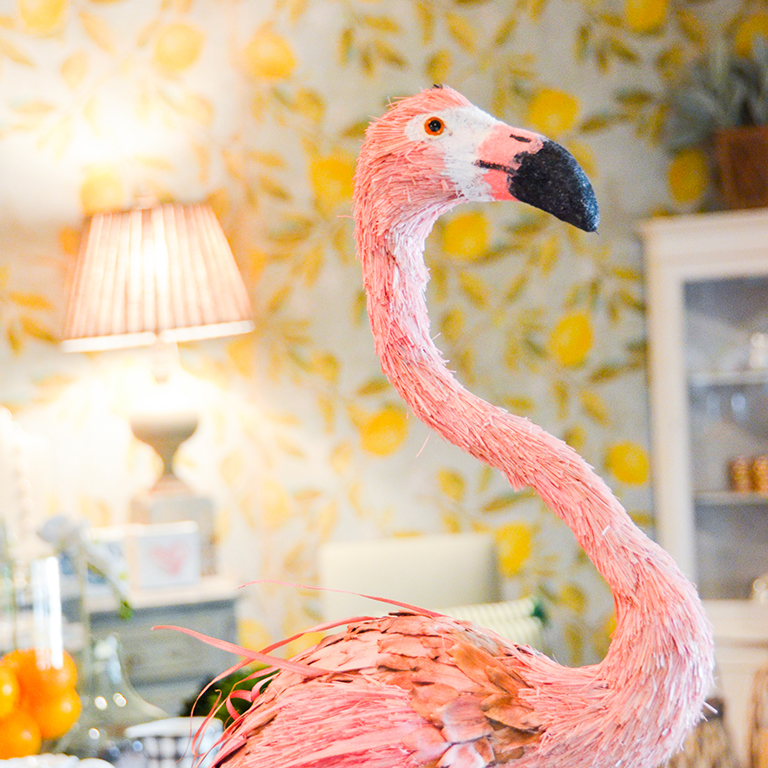 Pink Straw Flamingo: $110