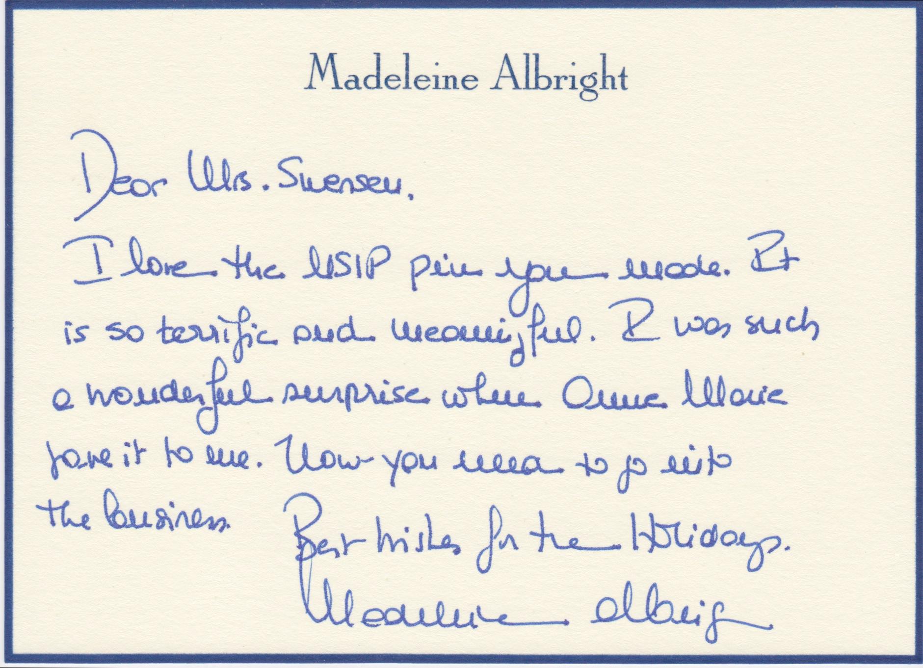 Sec. Albright Note.jpg