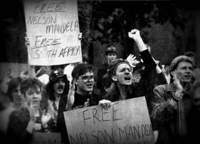 From an Anti-Apartheid Protest, 1985.