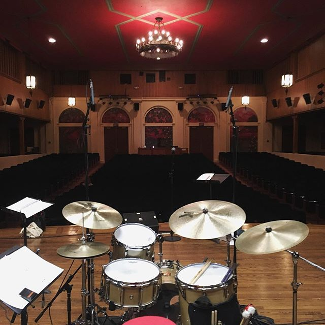 View from the cockpit  #societyofthe4arts #jazz #bernstein100 #palmbeach #drums #vicfirth #imwithvic