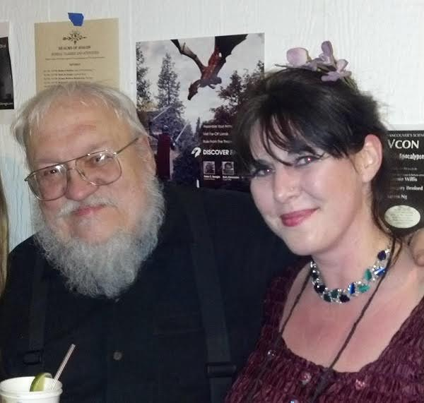 George R.R. Martin and Joanne Percy.