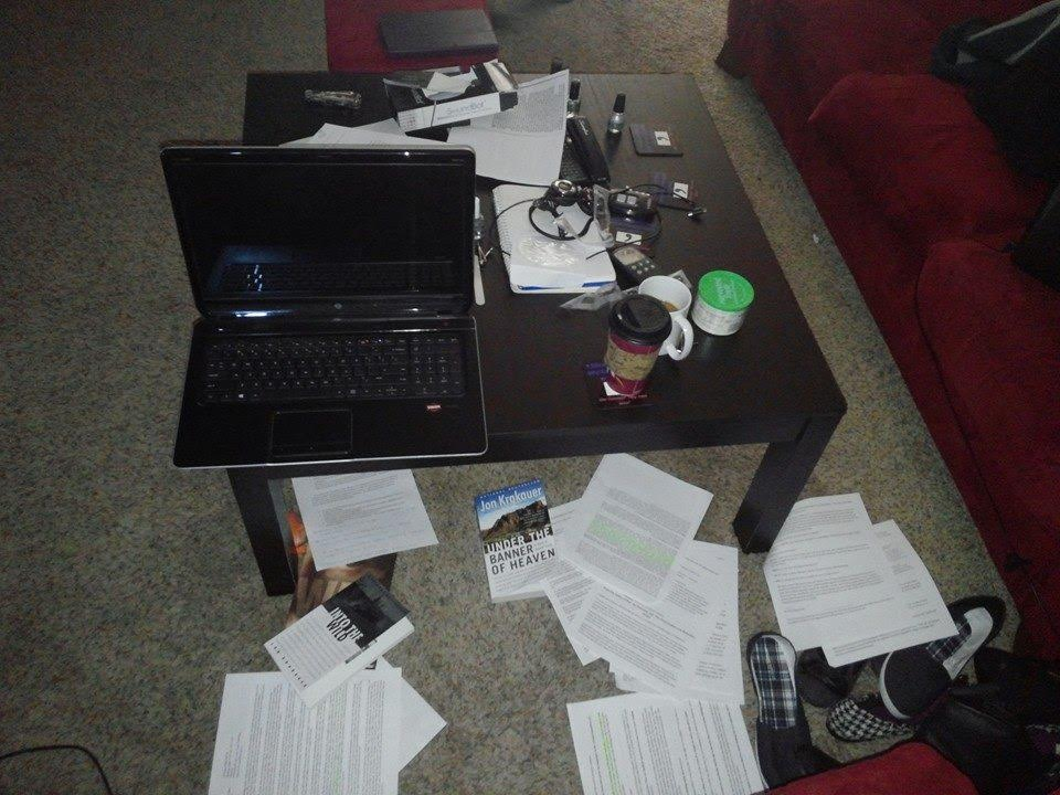 An inside look at Meg's writing space and process.