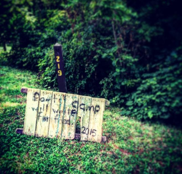 Plur•al•ity Press's Poetry Retreat welcome sign