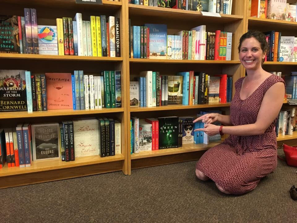 """The first local bookstore that accepted my book and put it on their shelf!"""