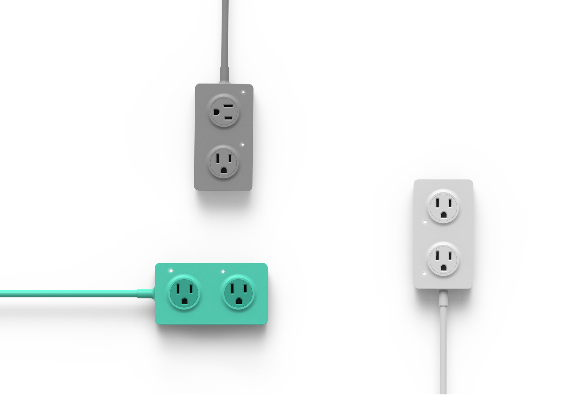 Power any where. AC outlets rotate 360