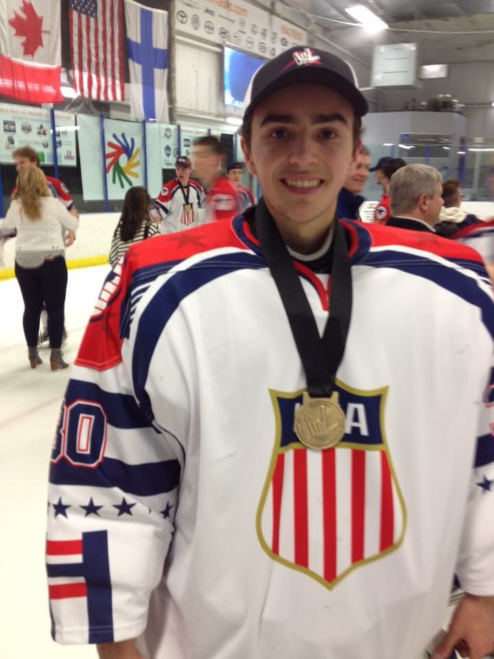 Young Buck winning the AHIHA World Championships for Team USA Hearing Impaired National Team