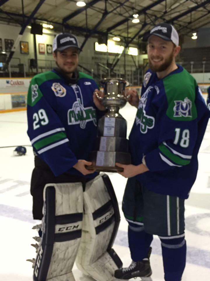 The Bronco winning the SJHL Championship