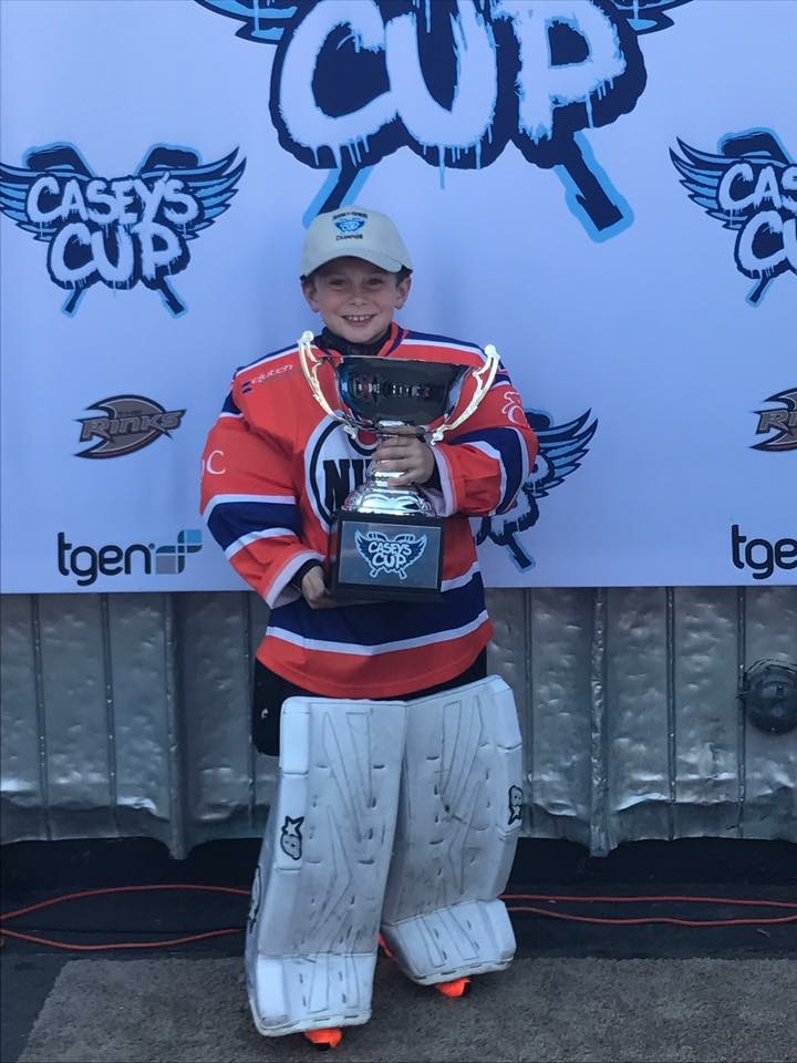 Hawk winning the Casey's Cup for the Squirt Division
