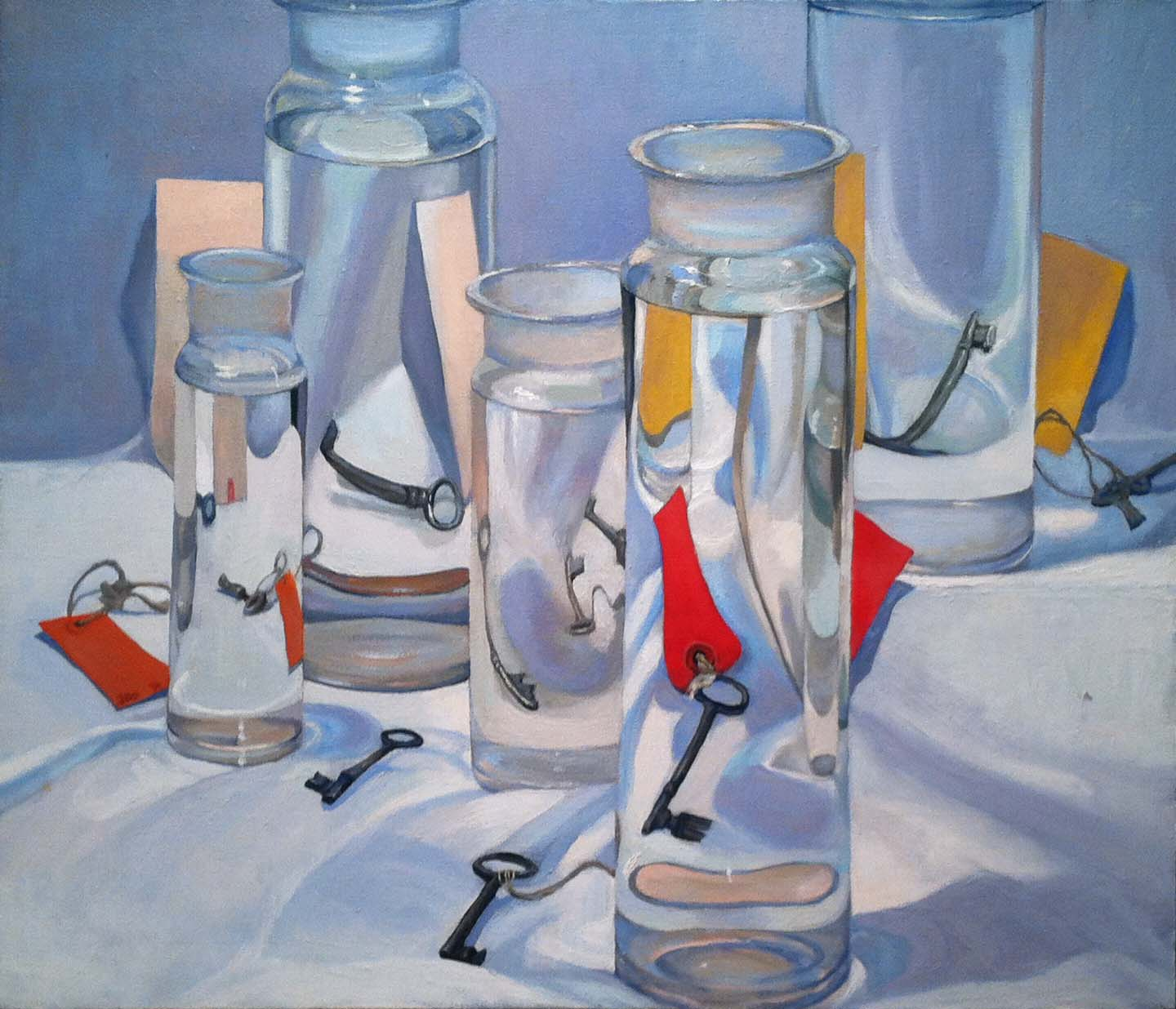 Still Life with Keys, 1976 oil on canvas, 30 x 36 inches