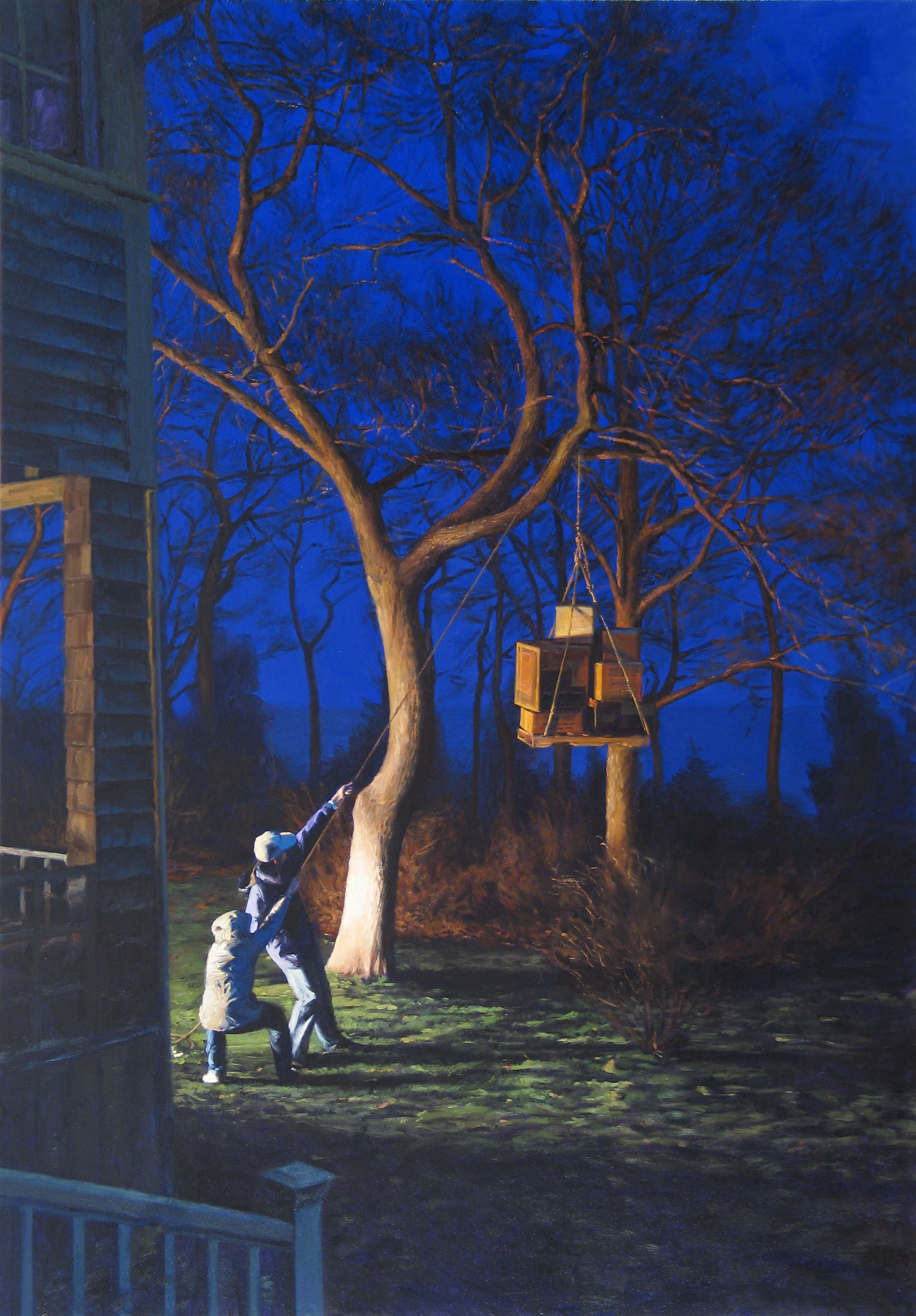Preparations at Dusk,  2005 oil on canvas, 50 x 35 inches