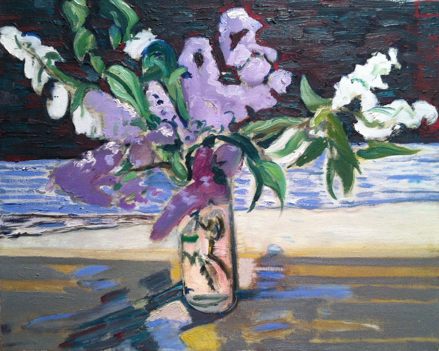 Lavendar Flowers, 1994 oil on canvas, 16 x 20 inches