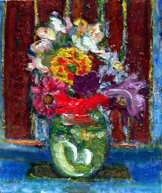 July Flowers, 2005 oil on canvas, 11 x 9 inches