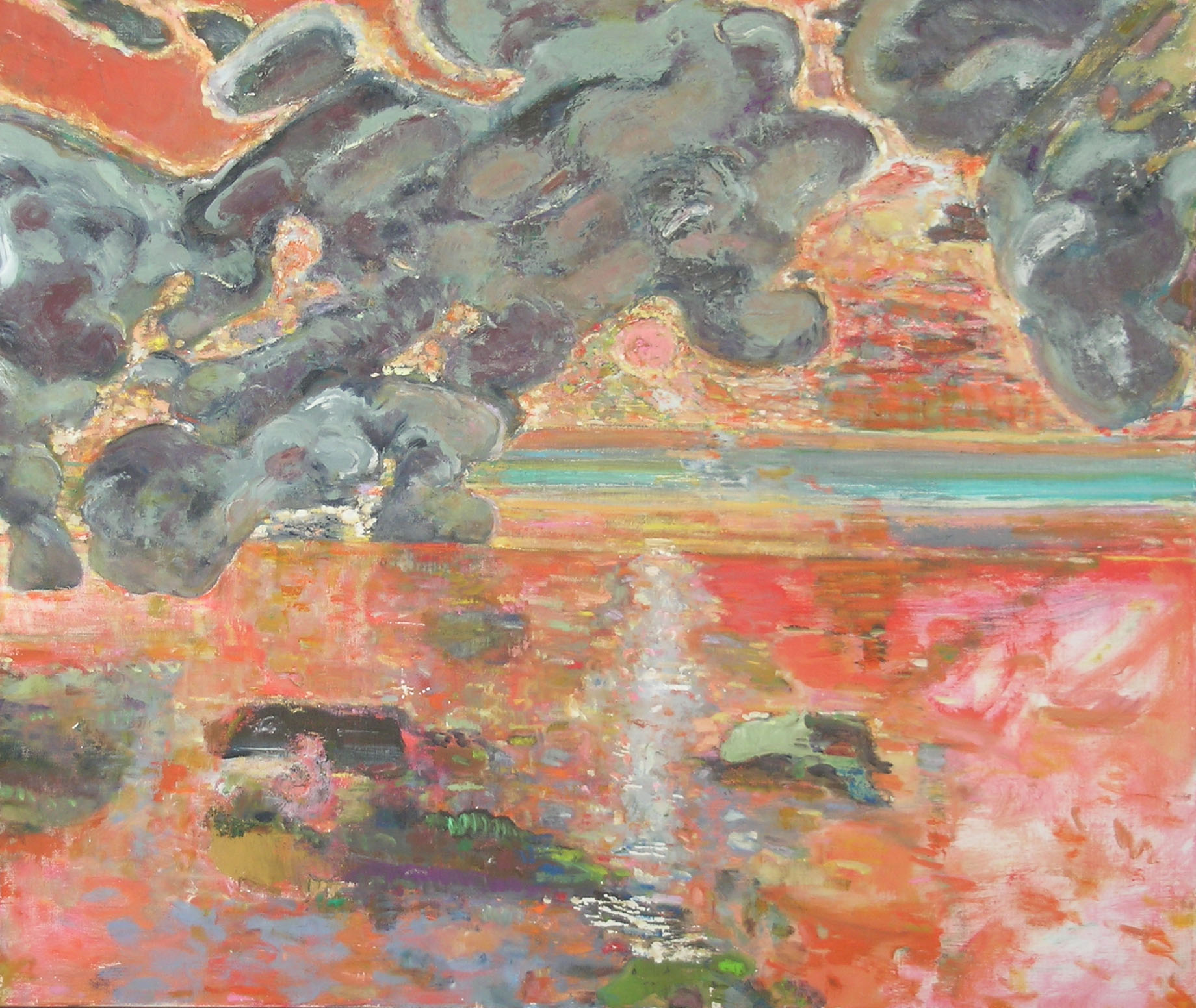 Heavy Clouds, 2005 oil on canvas, 34 x 40 inches